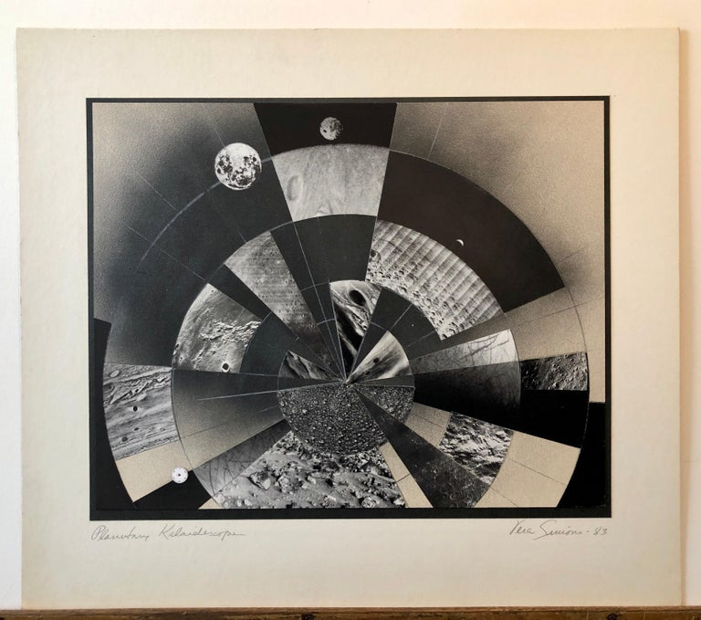 Planetary Kaleidoscope, Photo Mosaic Collage Space Photograph, Feminist Aviator For Sale 2