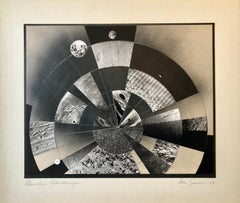 Planetary Kaleidoscope, Photo Mosaic Collage Space Photograph, Feminist Aviator