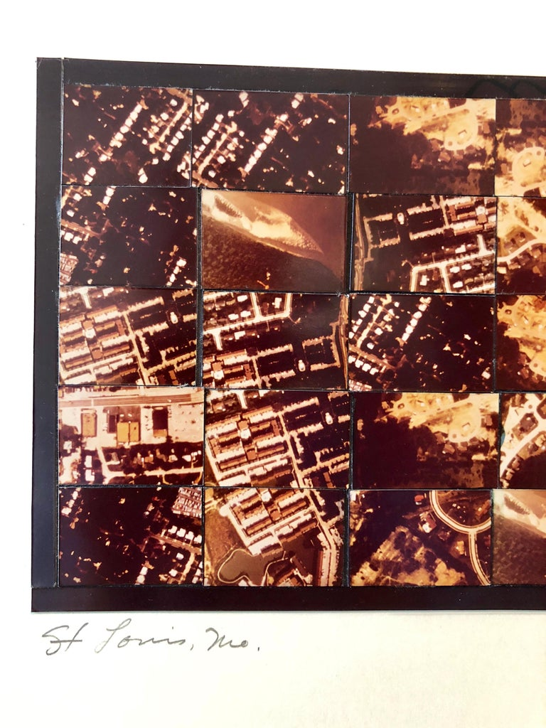 St Louis MO Photo Mosaic Collage Aerial Photograph, Female Aviator Feminist Art For Sale 1