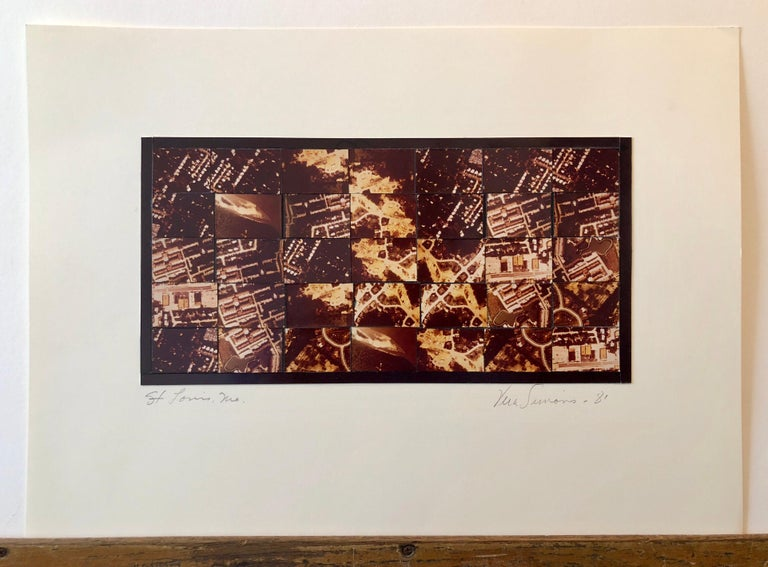 St Louis MO Photo Mosaic Collage Aerial Photograph, Female Aviator Feminist Art For Sale 2