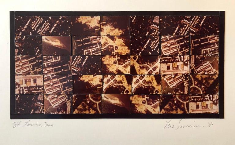 Vera Simons Color Photograph -  St Louis MO Photo Mosaic Collage Aerial Photograph, Female Aviator Feminist Art