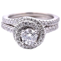 Vera Wang 14 Karat White Gold Diamond Wedding Set