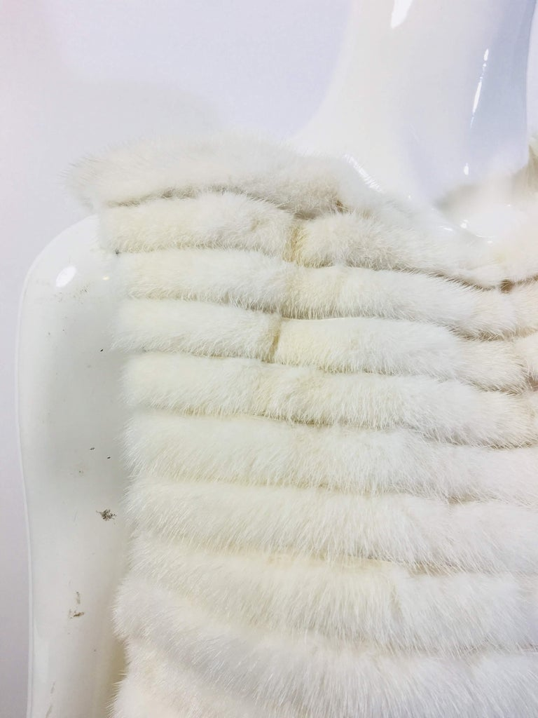 Gray Vera Wang Collection Mink Open Front  Vest For Sale