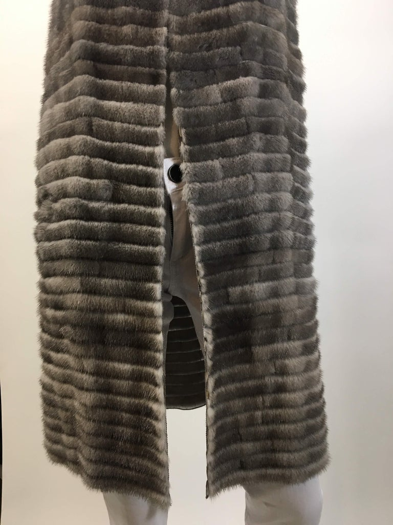 Women's Vera Wang Collection Mink Open Front  Vest