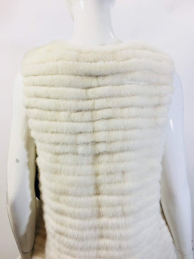 Women's Vera Wang Collection Mink Open Front  Vest For Sale