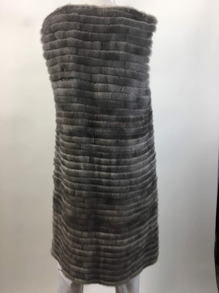 Vera Wang Collection Mink Open Front  Vest  1
