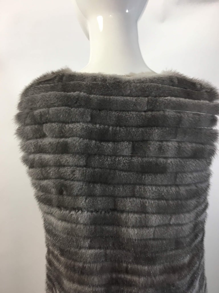 Vera Wang Collection Mink Open Front  Vest  2