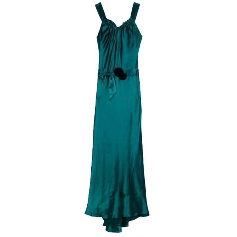 Vera Wang Flowing Satin Evening Gown M For Sale