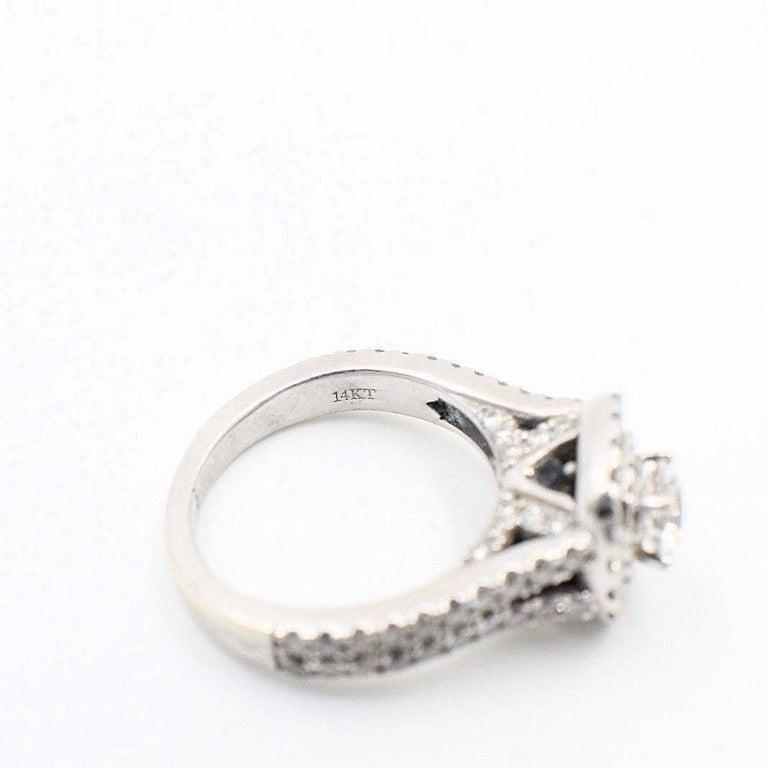 1 2 Carat Diamond Enement Ring | Vera Wang Halo Diamond Engagement Ring Rounds 1 1 2 Carat In 14