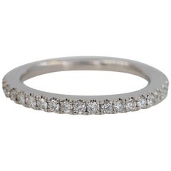 Vera Wang Love 1/4 Carat Diamond Wedding Band Ring 14 Karat White Gold