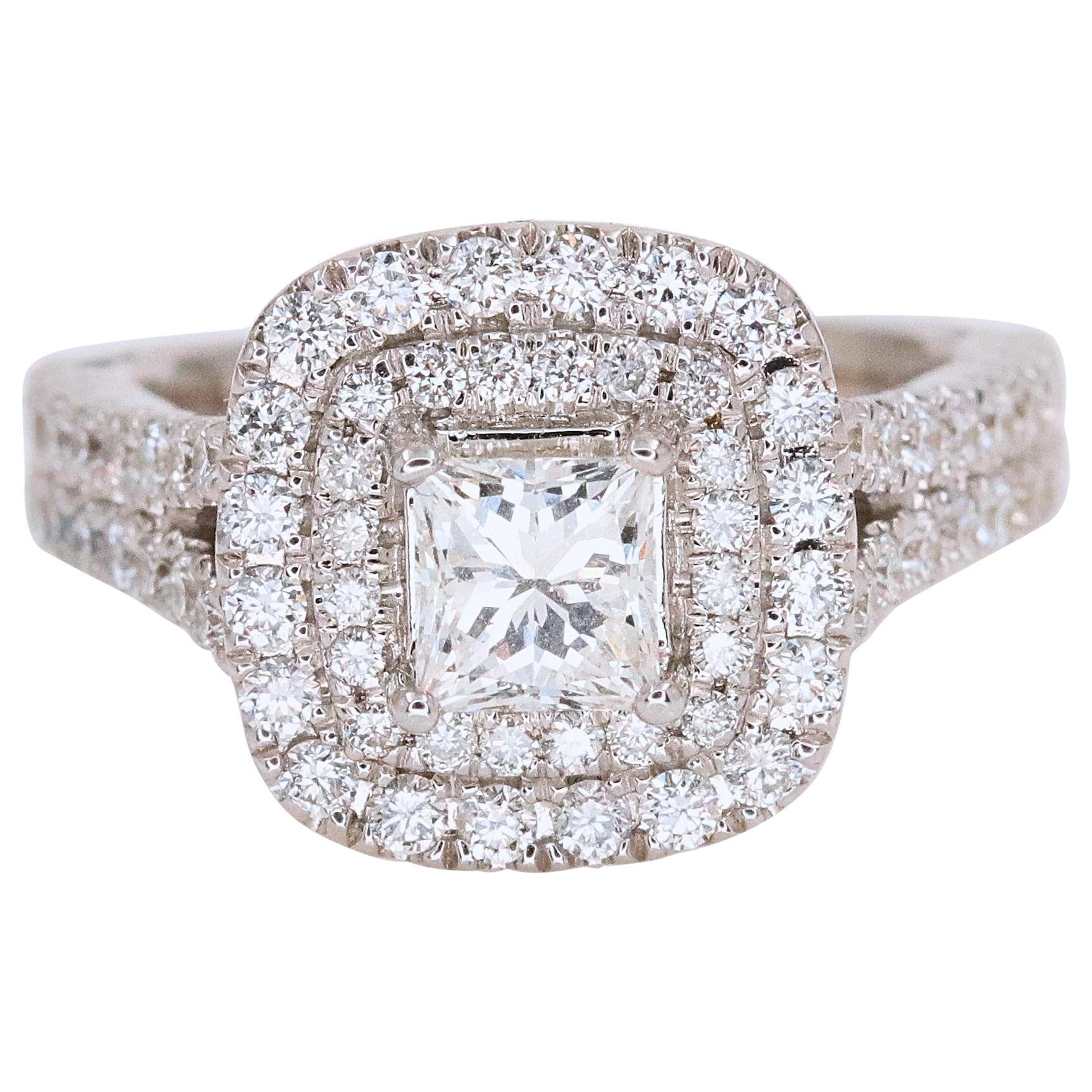 Vera Wang Love Collection 1 1/2 Carat Princess Diamond Split Shank Ring