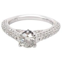 Vera Wang Love Collection Diamond Ring in 18 Karat White Gold 1.5 Carat