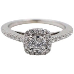 Vera Wang Love Diamond Engagement Ring 3/4 Carat in 14 Karat White Gold