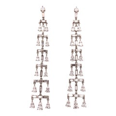 Vera Wang Platinum Diamond Chandelier Earrings