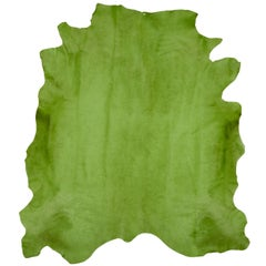 Apple Green Genuine Large European Cowhide Hair Rug