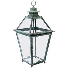 Verdigris Copper and Brass French Lantern