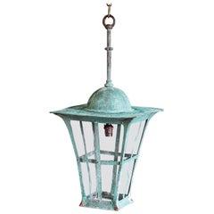 Verdigris Copper Arts & Crafts Lantern