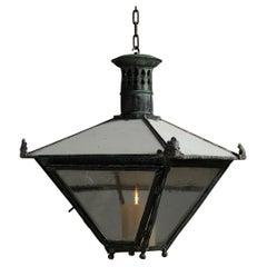 Verdigris Copper Station Lantern, England, Circa 1820