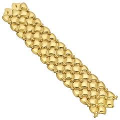 "Verdura 18 Karat Yellow Gold ""Quilted"" Link Bracelet"