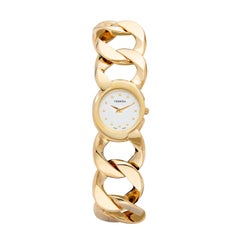 Verdura 18 Karat Gold Curb-Link Bracelet Watch