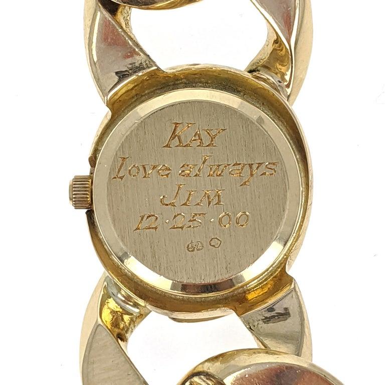 Verdura Curb Link Yellow Gold Watch Bracelet 2