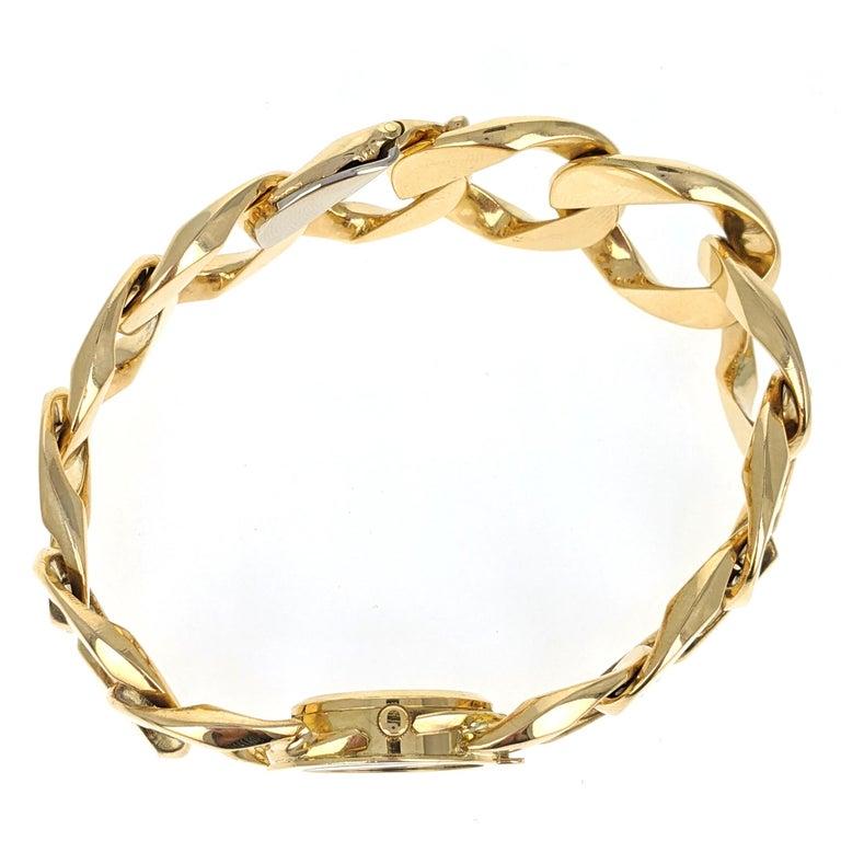 Verdura Curb Link Yellow Gold Watch Bracelet 3