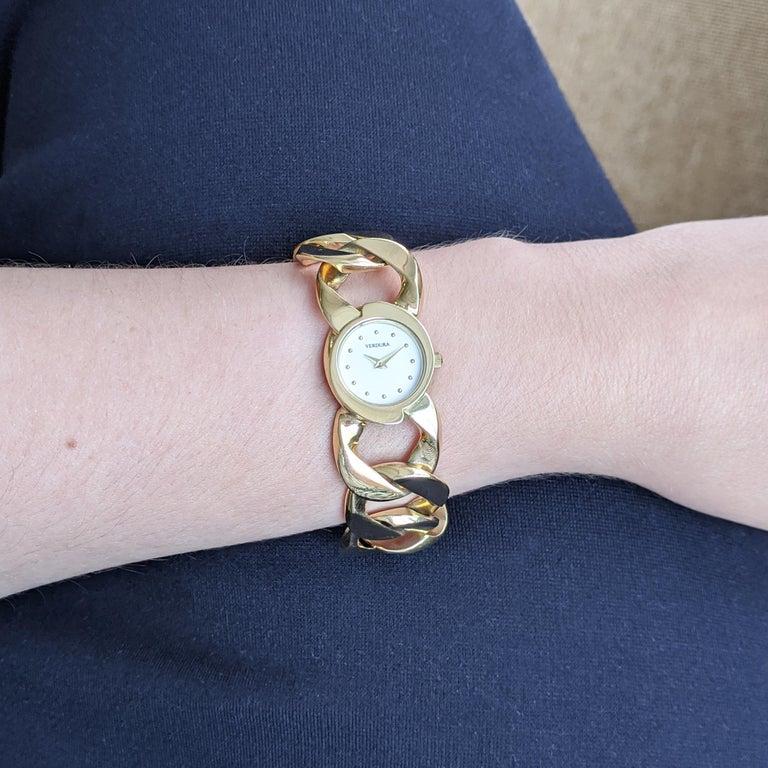 Verdura Curb Link Yellow Gold Watch Bracelet 4