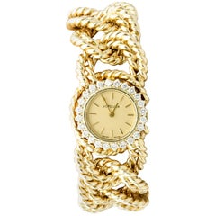 Verdura Diamond and Gold Link Watch Bracelet