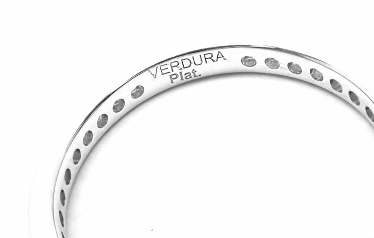 Verdura Diamond Eternity Platinum Band Ring In Excellent Condition For Sale In Holland, PA