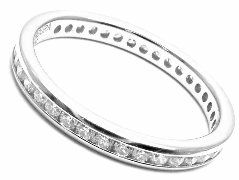 Women's or Men's Verdura Diamond Eternity Platinum Band Ring For Sale