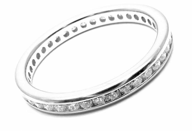 Verdura Diamond Eternity Platinum Band Ring For Sale 1