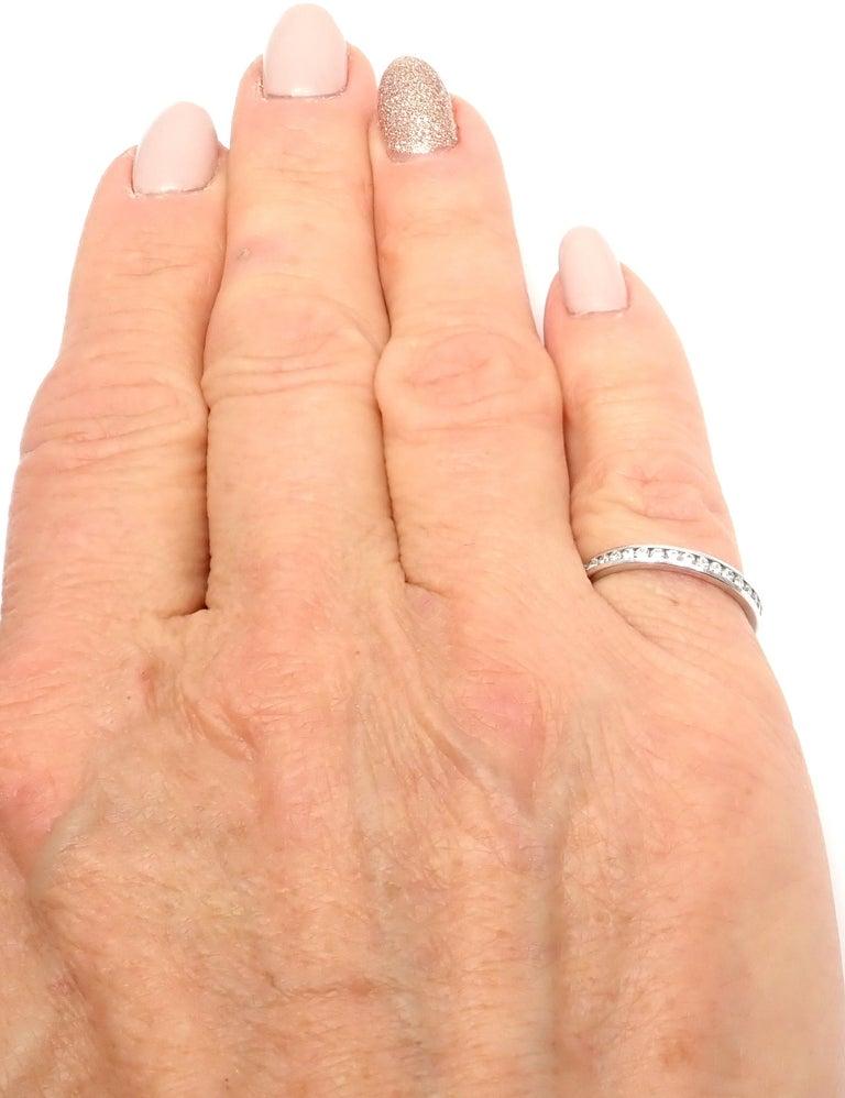Verdura Diamond Eternity Platinum Band Ring For Sale 3