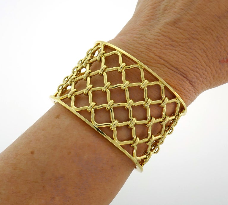 Fabulous 18 karat yellow gold cuff bracelet created by Verdura. Belongs to