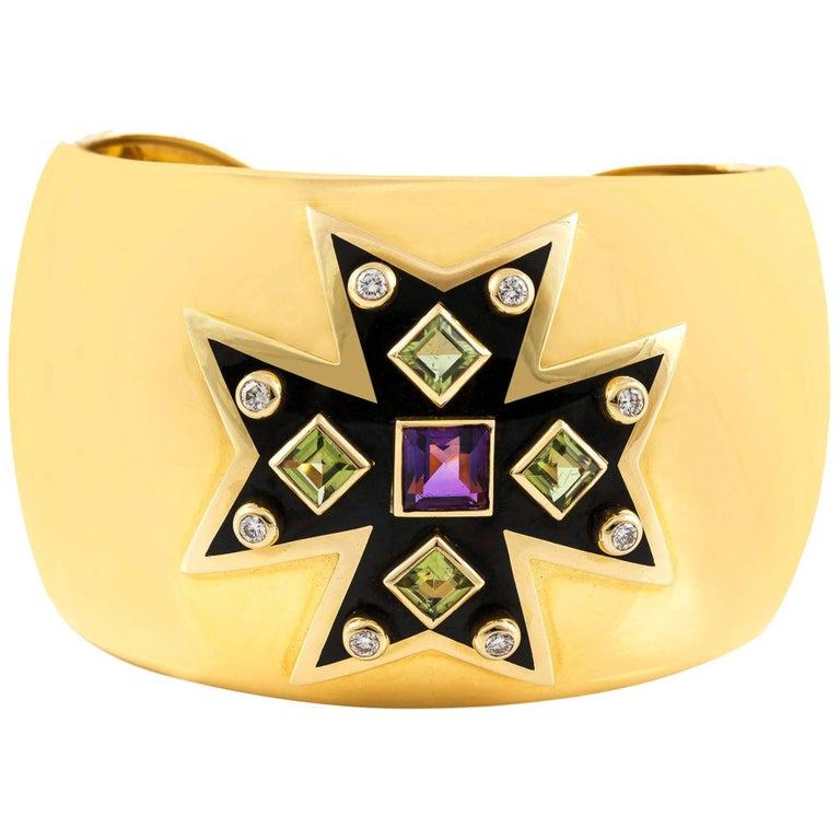 Verdura Maltese Cross Cuff For Sale