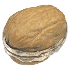 Verdura Silver Mounted Walnut Pill Box
