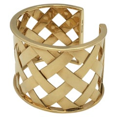 Verdura Yellow Gold Criss Cross Cuff