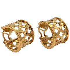 Verdura Yellow Gold Criss Cross Earrings