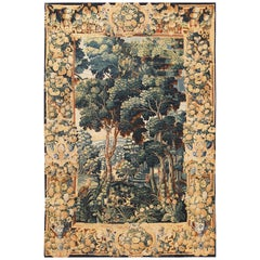 Verdure Scene Antique French Tapestry