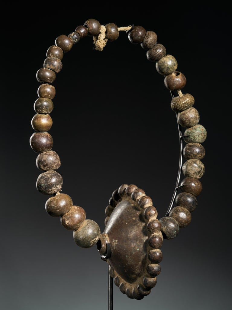 20th Century Vere People, Nigeria-Cameroon, Cast Brass Necklaces or Waist Beads Collection For Sale