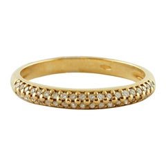 Veretta Diamonds 18 Karat Yellow Gold Ring