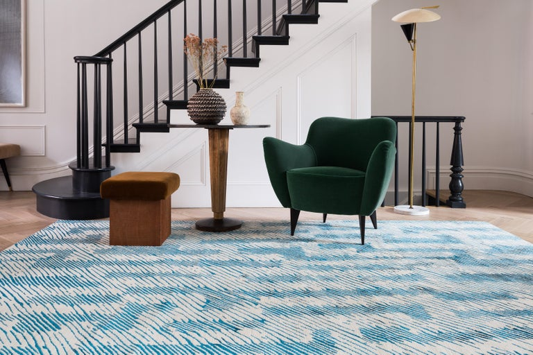 Verge Rug in Hand Knotted Wool and Silk by Kelly Wearstler For Sale 3