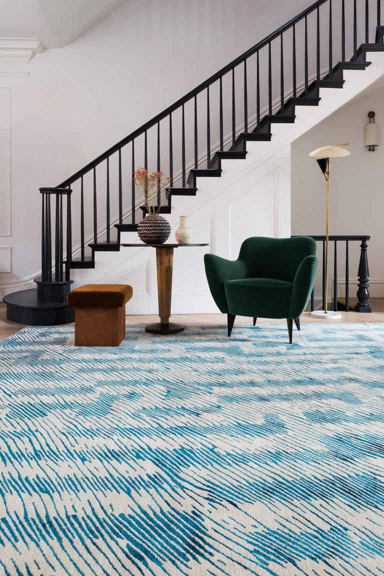 Verge Rug in Hand Knotted Wool and Silk by Kelly Wearstler For Sale 4