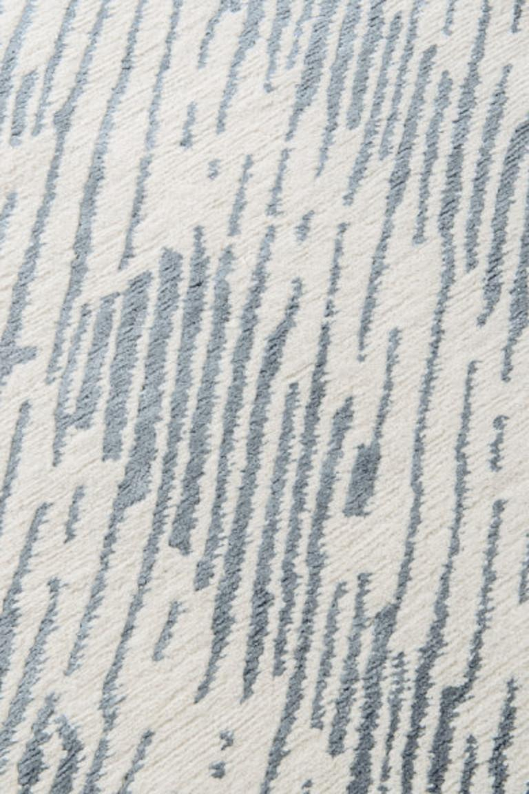 For Sale: Beige (Ice) Verge Rug in Hand Knotted Wool and Silk by Kelly Wearstler 2