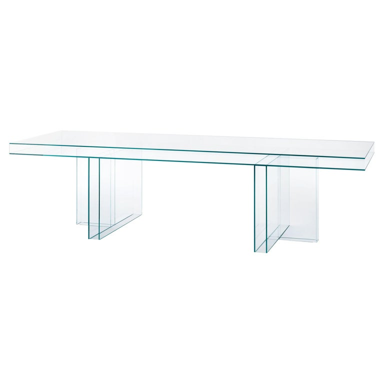 Verglas Large Rectangular High Table, by Piero Lissoni from Glas Italia For Sale