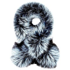 Verheyen Lapel Cross-through Collar in Iced Topaz Fox Fur