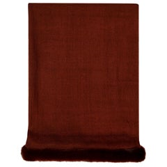 Verheyen London Handwoven Mink Fur Trimmed Cashmere Scarf in Brown