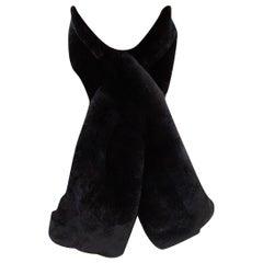 Verheyen London in Black Rex Rabbit Fur Collar - 3 ways