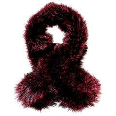 Verheyen London Lapel Cross-through Collar in Soft Ruby Fox Fur