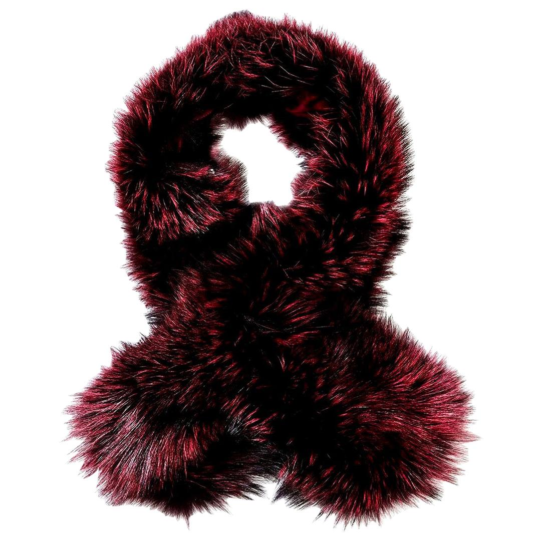 Verheyen London Lapel Cross-through Collar in Soft Ruby Fox Fur