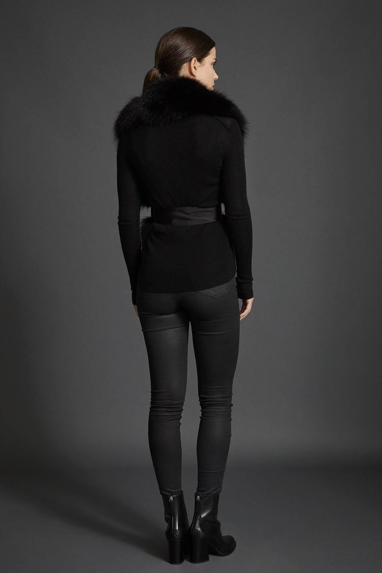 Verheyen London Legacy Black Fox Fur Stole Collar - Brand New  4